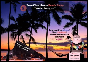 Beer club beach party english